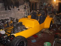 Roll bar now fixed, scuttle resting in place ready for rest of body ... (click for larger image)