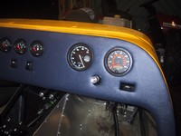 Trial fitting of dash to ensure optimal position for steering column (click for larger image)