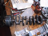 Rods removed from crankshaft (click for larger image)